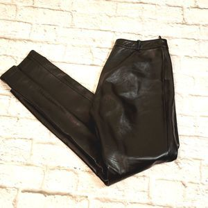 Guess collection Black Leather Pants size 6